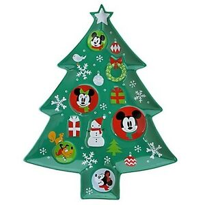 image is loading disney holiday platter tray pluto mickey minnie mouse - Mickey Christmas Tree
