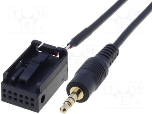 BMW E63 6 Series AUX input cable 2004-2010 bas aux black