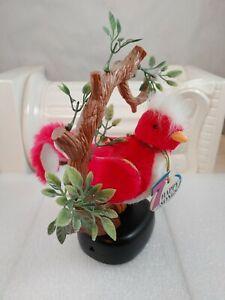 Vintage-Singing-Bird-Chirps-7-Happy-Songs-Hanging-Perch-Branch-WORKS