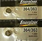 ENERGIZER 364/363 SR621W SR621SW (2piece) BATTERIES Sealed Authorized Seller