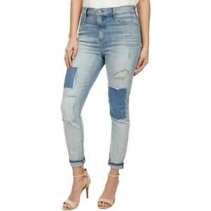 Lucky-Brand-Womens-Bridgette-Blue-Destroyed-Ankle-Skinny-Jeans-8-29-BHFO-7893