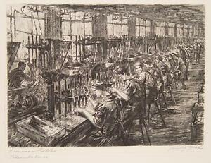 Franz-Graf-Siemens-Halske-Berlin-Workers-Industry-Work-Bench-Factory-Drill-1924