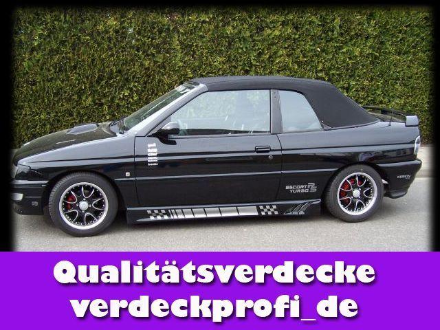 Ford Escort Cabrioverdeck Stoff schwarz Verdeck ALL Baujahr 1990 - 1998    x98