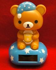 Nohohon Flip Flap Solar Powered Good Night Rilakkuma Teddy Bear  #A - Blue Color
