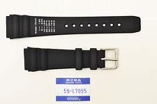 Citizen 20mm Original Rubber watch Band JM3000-015 BLACk Strap 59-L7055 Navisurf