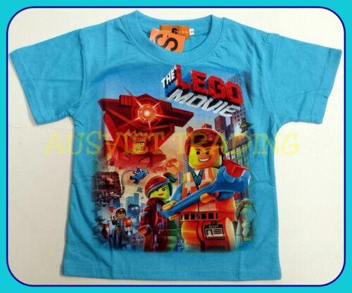 BNWT Lego The Movie T-Shirt Boys kids short sleeves Top Tshirt 100/% cotton