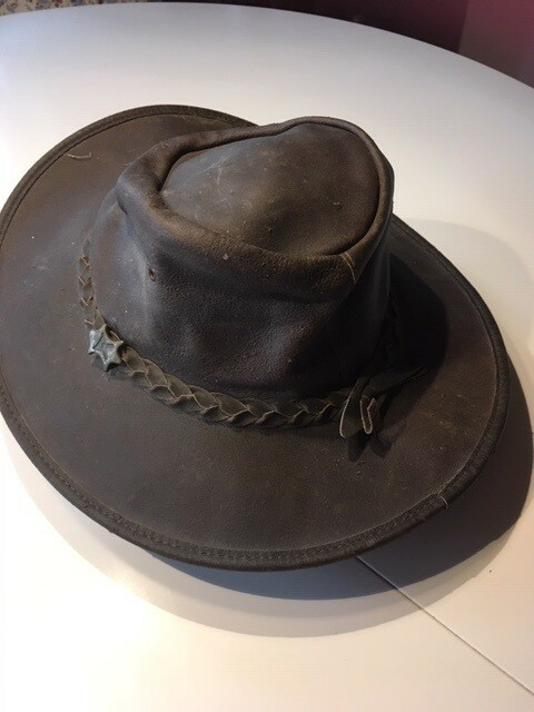 Hat, HC Hat, str. M,  Brun,  Australias Leather Hat since…