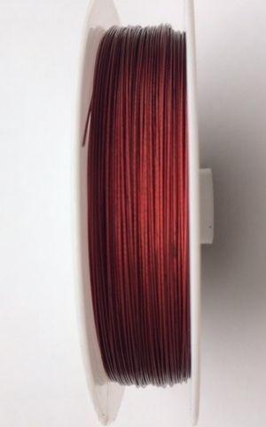 de color rojo o rosa 0.38mm 100m Abalorios Hilo Cola de Tigre