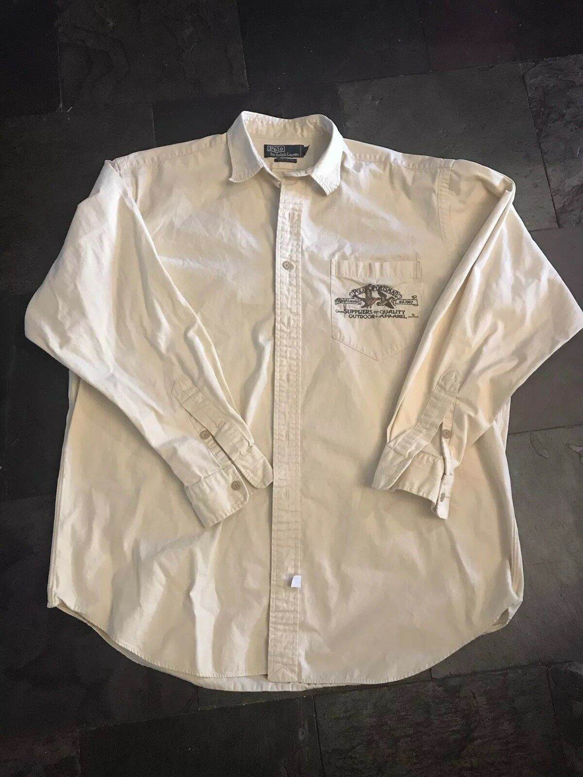 72323f13 Rare Vintage Polo Ralph Lauren Sportsmans Edition Button Down Size Large  nqigyt4903-Casual Shirts & Tops