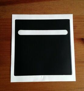 easy-PLAIN-black-any-CAR-TAX-DISC-LICENSE-PARKING-PERMIT-HOLDER-105mm-free-post