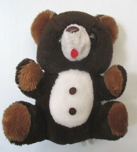 Vintage Old 1980's German Plush Brown Bear, Teddy Bear , Stuffed Animal Toy