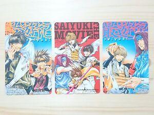 RARE-Kazuya-Minekura-SAIYUKI-Phone-card-3-pieces-set-Japan-Anime-816