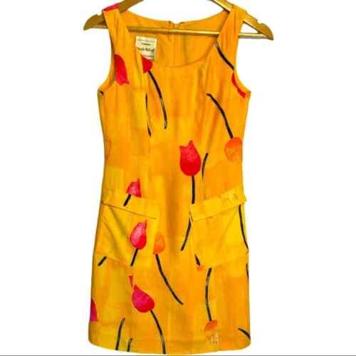 Joseph Ribkoff Tulip Print Sleeveless Sheath Dress - image 1
