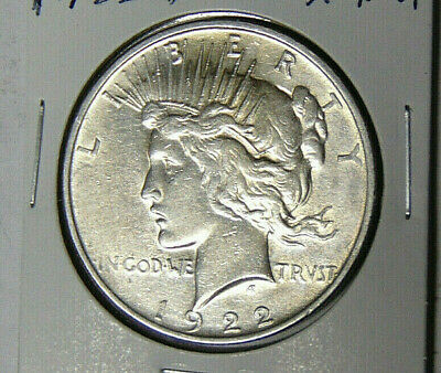 1922-D Peace Silver Dollar XF//AU Denver Mint 121818