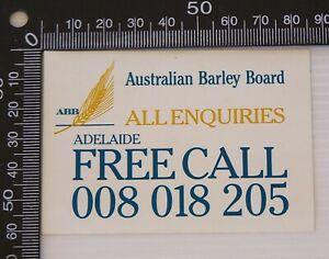 VINTAGE-AUSTRALIAN-BARLEY-BOARD-ABB-ADELAIDE-ADVERTISING-PROMO-BUMPER-STICKER