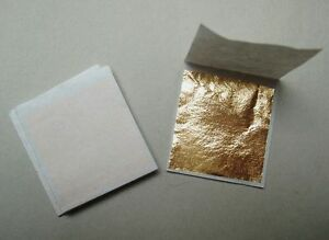 100 feuilles d'or 24 carats
