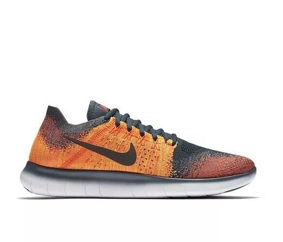 Nike Free RN Flyknit 2017 880843-401 Grey orange cm New