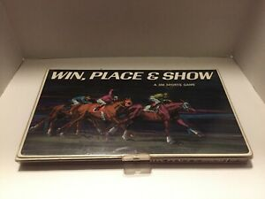 Win-Place-Show-3M-Sports-Horse-Betting-Racing-Board-Game-1966-Vintage-Complete