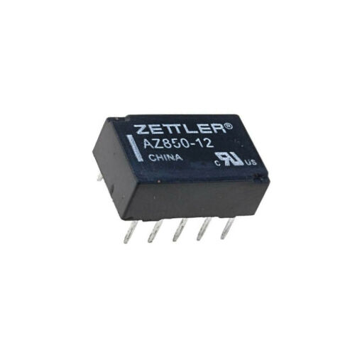 AZ850-12 Relais électromagnétique DPDT ucoil 12VDC 0.5A//125VAC 1A//30VDC Zettler