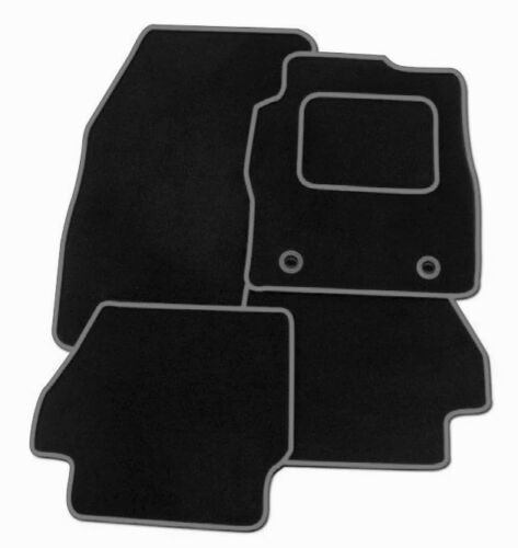 BLACK CARPET WITH GREY EDGING FULLY TAILORED CAR MATS FORD MUSTANG 2015