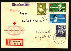 Germany-DDR-1957-Arnstadt-Registered-Cover-w-Better-III-Z17230