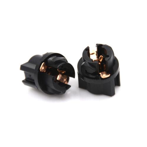 10X T5 Socket Twist Lock Instrument Panel Cluster Plug Dash Light Bulb UX