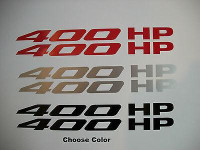 400 HP Hood Fender Decals Sticker Chevrolet Camaro 2010 pair RS SS L99