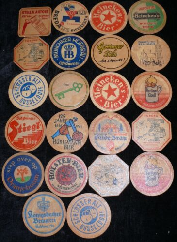 22 BEER COASTERS EARLY SEE IMAGES