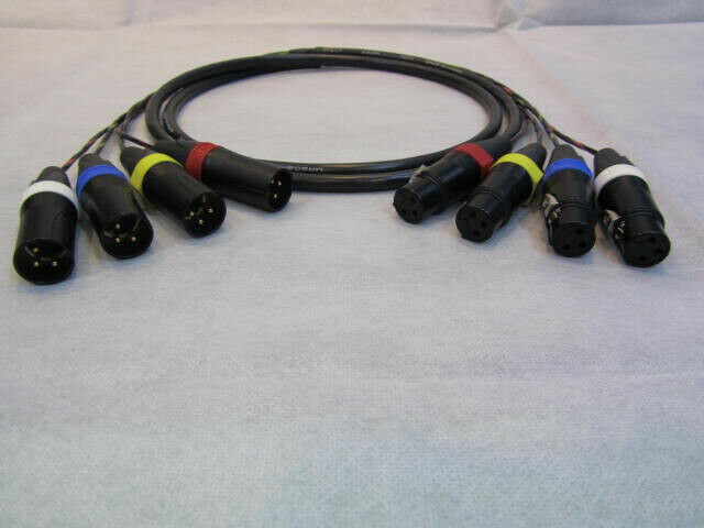 Canare mr202-4at 4 Canales equilibrado Studio Serpiente cable cable cable XLR macho a hembra, 6 pies 3f510c