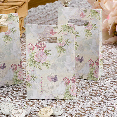Pack of 10 With love Design Small Wedding Favour Gift Bags