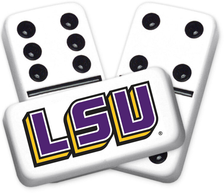 Louisiana State University Design Double six Professional Größe Dominoes