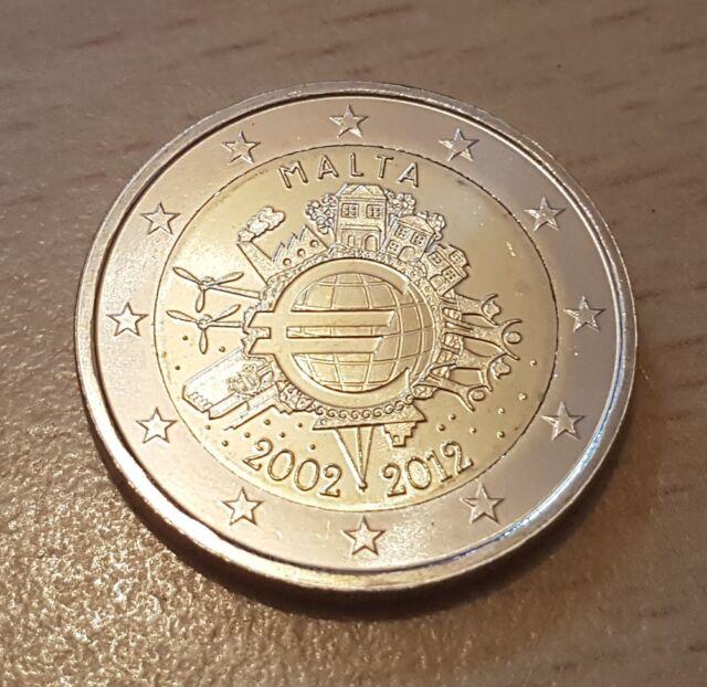 2 Euro Malta 2012 - 10 Jahre Bargeld