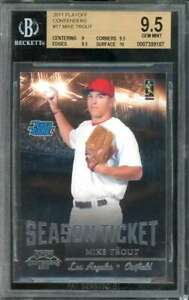Mike Trout Rookie Card 2011 Playoff Contenders #17 BGS 9.5 (9 9.5 9.5 10)