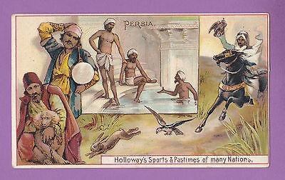 THOMAS  HOLLOWAY  LTD.  -  RARE SPORTS & PASTIMES CARD  -  PERSIA  -  1900