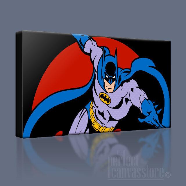 Batman superbe comic style emblématique toile pop art imprimé photo upgrade 120x56cm