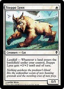 036 Zendikar Mtg x4 4x ZEN Magic Steppe Lynx