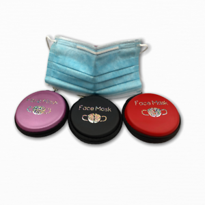 Face-Mask-Storage-Case-Shield-Holder-Portable-Pouch-Travel-Handmade-Vinyl-Zipped