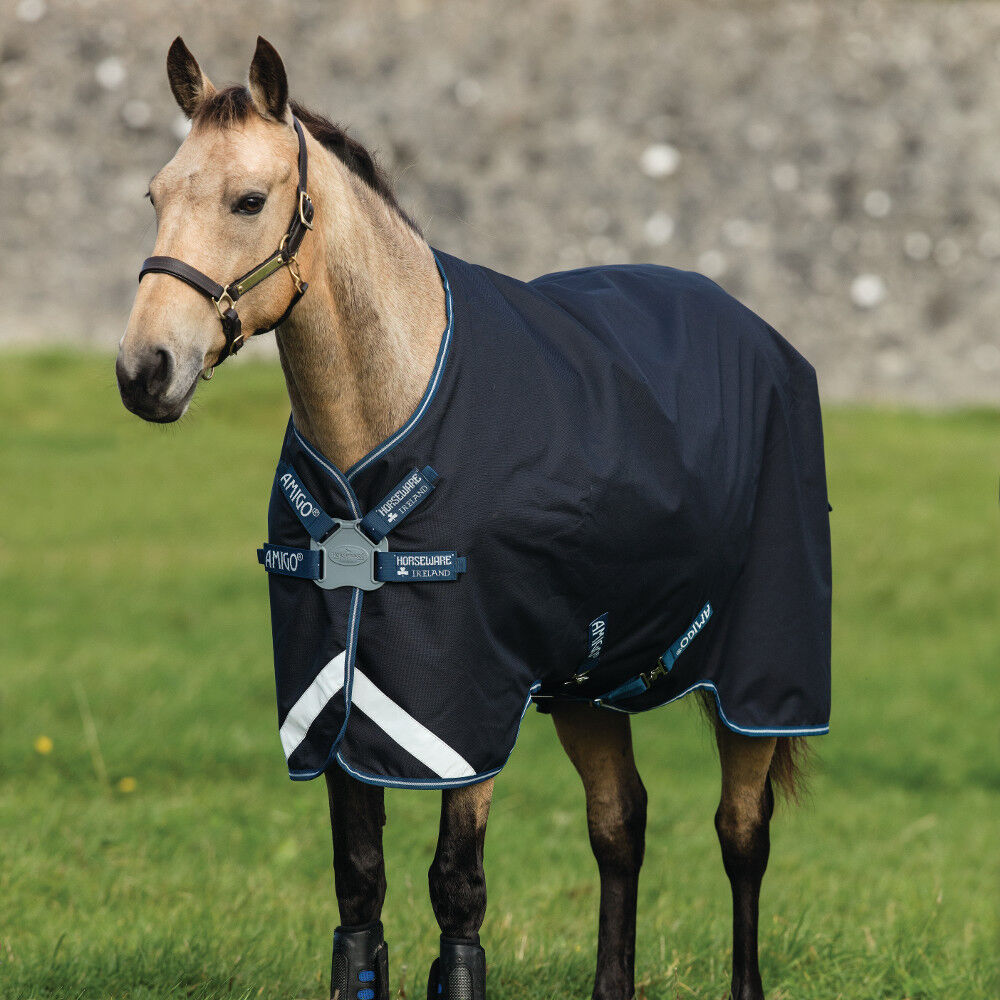 Horseware Amigo Bravo  12 Pony Turnout 0g Lite Disc-Navy White  store online