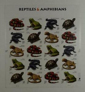 US SCOTT 3814-3818 SHEET (PANE) OF 20 REPTILES & AMPHIBIANS STAMPS 37 CENTS MNH