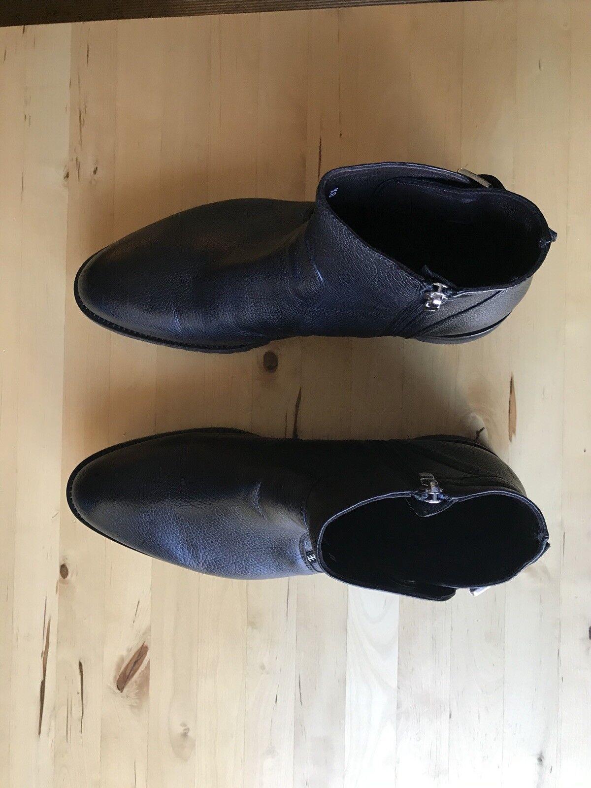 Cesare paciotti mens nero Leather stivali US Dimensione 9.5 original  550