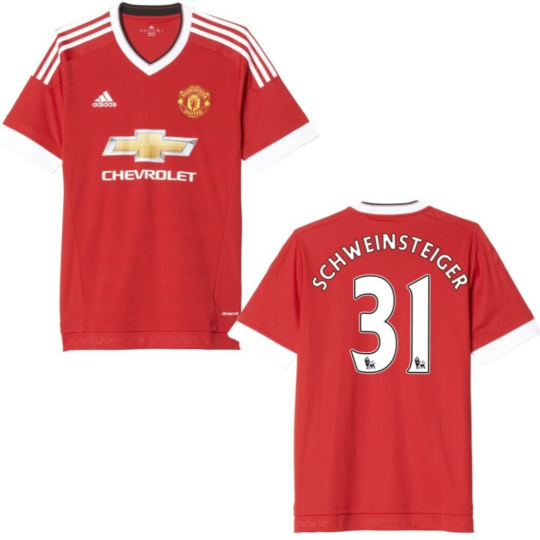 Adidas uomochester United Casa MagliaHome 20152016 rosso Schweinsteiger Numero 31