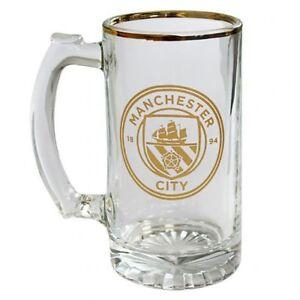 Manchester City F.C - Stein Glass Tankard   - GIFT