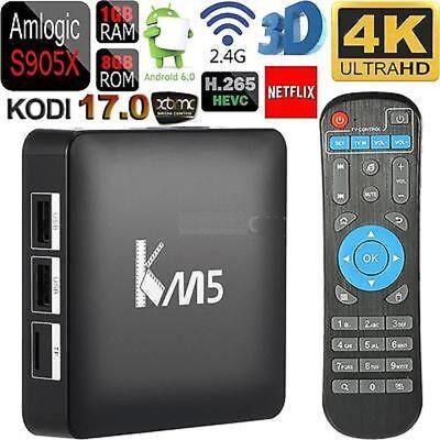 KM5 Quad Core ANDROID TV BOX + KODI IPTV HD 4K IPTV SMART TV YOUTUBE