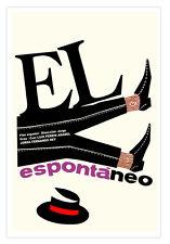 Cuban movie Poster for film El ESPONTANEO.Spontaneous.Spain art film.Wall Decor
