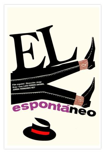 Spanish movie Poster 4 film El ESPONTANEO.Spontaneous.Spain art film.Wall Decor