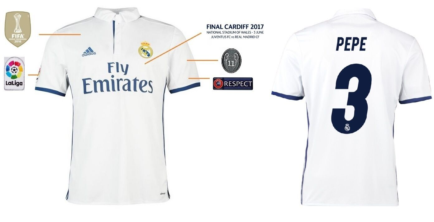 Trikot Real Madrid Champions League Final Cardiff 2017 - Pepe 3