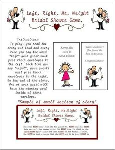 image is loading bridal shower left right mr wright envelope pass