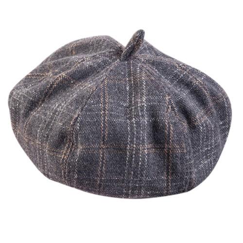 Style Français Vintage Unisexe Hommes Femmes Filles Laine Chaud Plain Beret Beanie Hat Cap