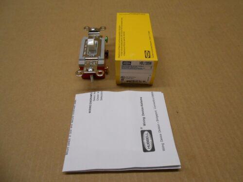 1 NIB HUBBELL HBL1385W WHITE NYLON SWITCH TOGGLE 3POS 1POLE 20A 120//277VAC
