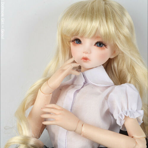 7-8 Wig Only 1//4 BJD MSD inch Melrose Long Bang Wig Blonde